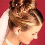 Long Hair Wedding Updo style