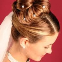 Long Hair Wedding Updo style