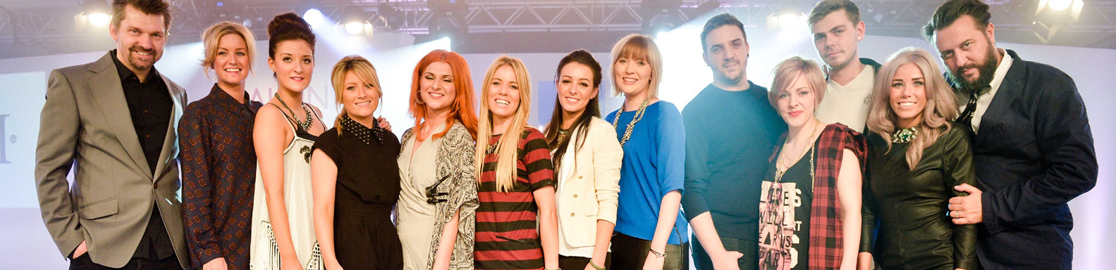 Yazz Stylists group shot with Hairdressing Celebs