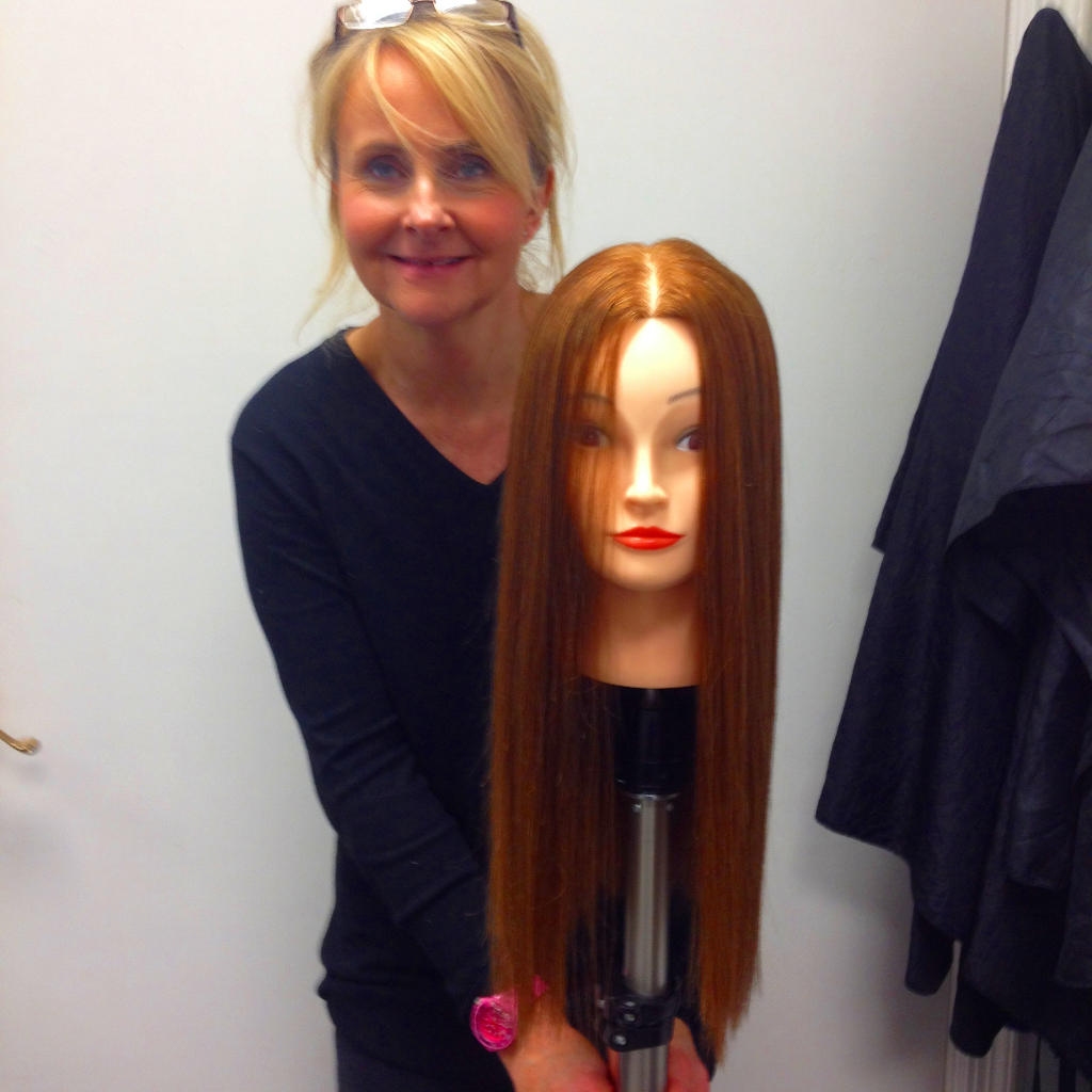 Julie Radcliffe on course to up-skill into Ladies Hairdressing - the finished result