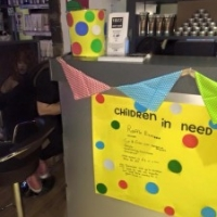 Yazz Rawdon Spash out some colour for Children in Need