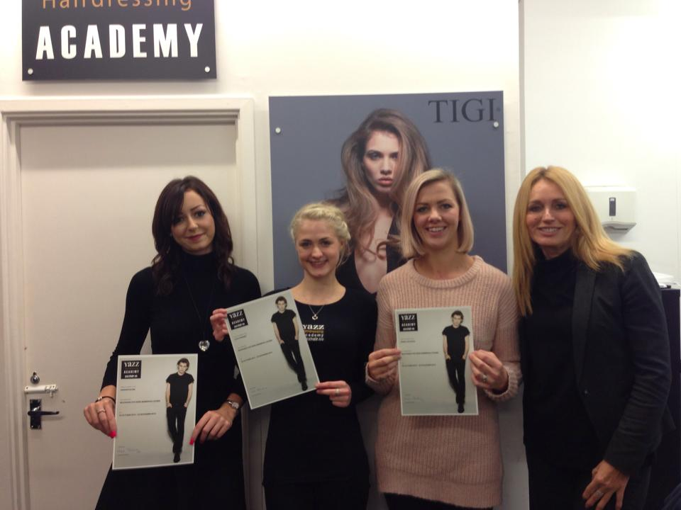 Yazz Hairdressing Academy Barber Students collect Certifications