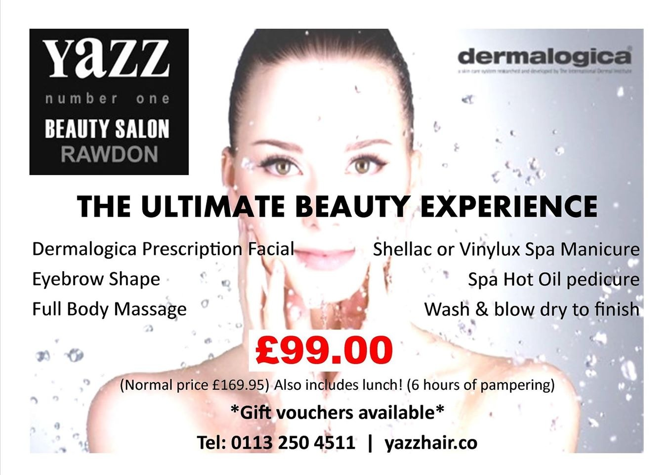The Ultimate Beauty Experiance discount voucher from Yazz Beauty, Rawdon, Leeds