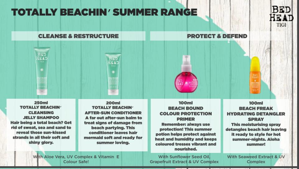 Tigi Bedhead Totally beachin limited edition beach range