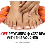 50% off voucher for pedicures at Yazz Beauty, Rawdon, Leeds