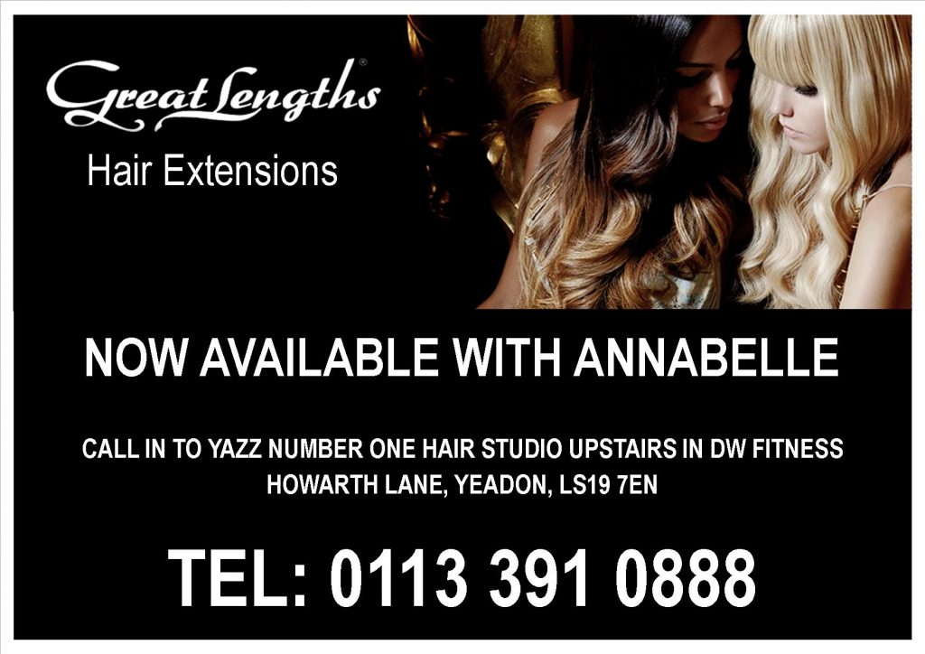 Great Lengths Hair Extensions Poster from Yazz Yeadon, Leeds, West Yorkshire