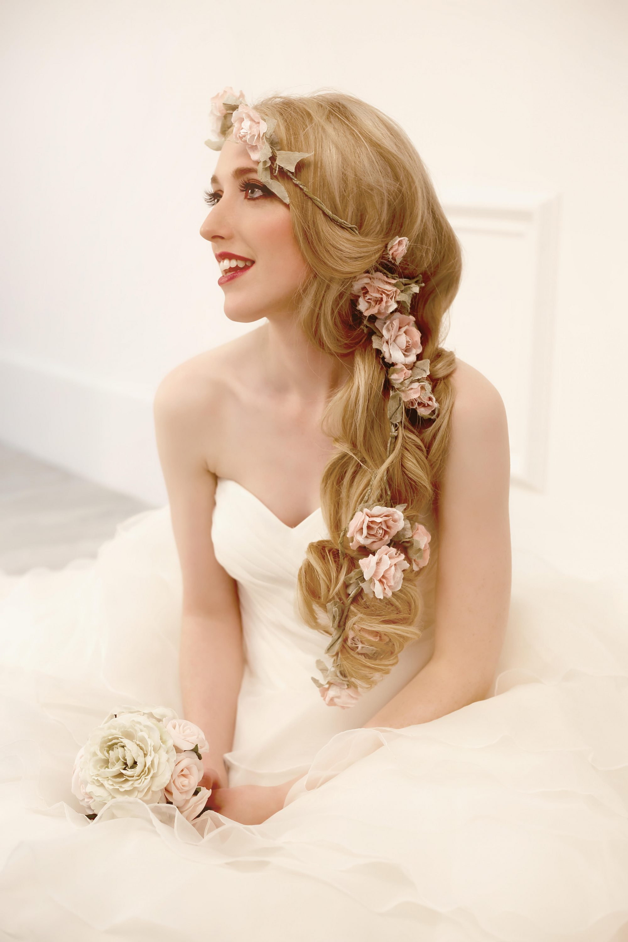 Great Lengths long hair wedding hair style suggestion