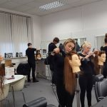 Yazz Academy Student learing Blow Dry techniques