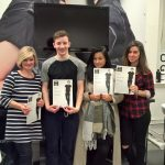 New Barbers in the making collecting their Barbering Certificates at Yazz Hairdressing Academy, Yeadon, North Leeds.
