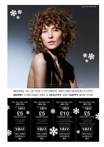 Yazz Hair H&N Discount vouchers for money off new year hair appointments