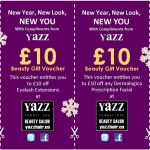 Yazz Beauty Leeds 2016 Christmat discount vouchers