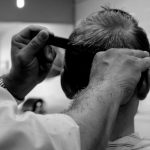 Mens barber haircut