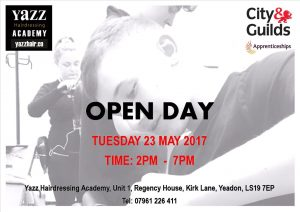 Yazz Hairdressing Academy Yeadon, Leeds, Open Day 23 May 2017