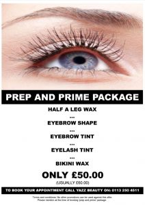 Yazz Beauty Prep and Prime special offer package
