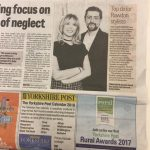 Ashley and Jess featured in the Yorkshire Evening Post after being names finalists in the NW Hairdresser of the Year competition