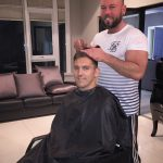 Stuart Downing has close shave at Yazz Hair, Rawdon, Leeds