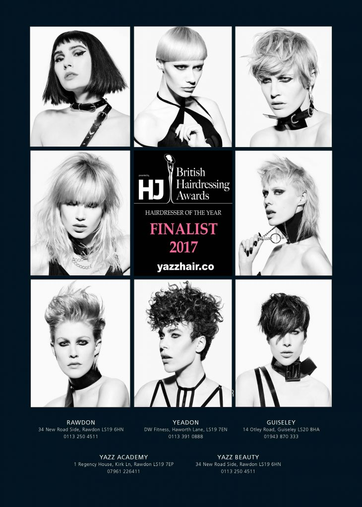 Yazz Hair- British Hairdressing award Finalists 2017 !