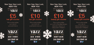 Yazz Christmas and New Year Money off Voucher for January and February 2016
