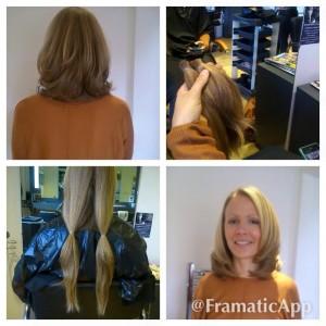 Nina Pidd' haircut for charity at Yazz Number One Hair Salon