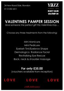 Yazz Beauty Valentines Pamper Session