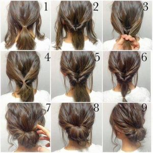 Step by Step pictures on creating a relaxed Updo hairstyle