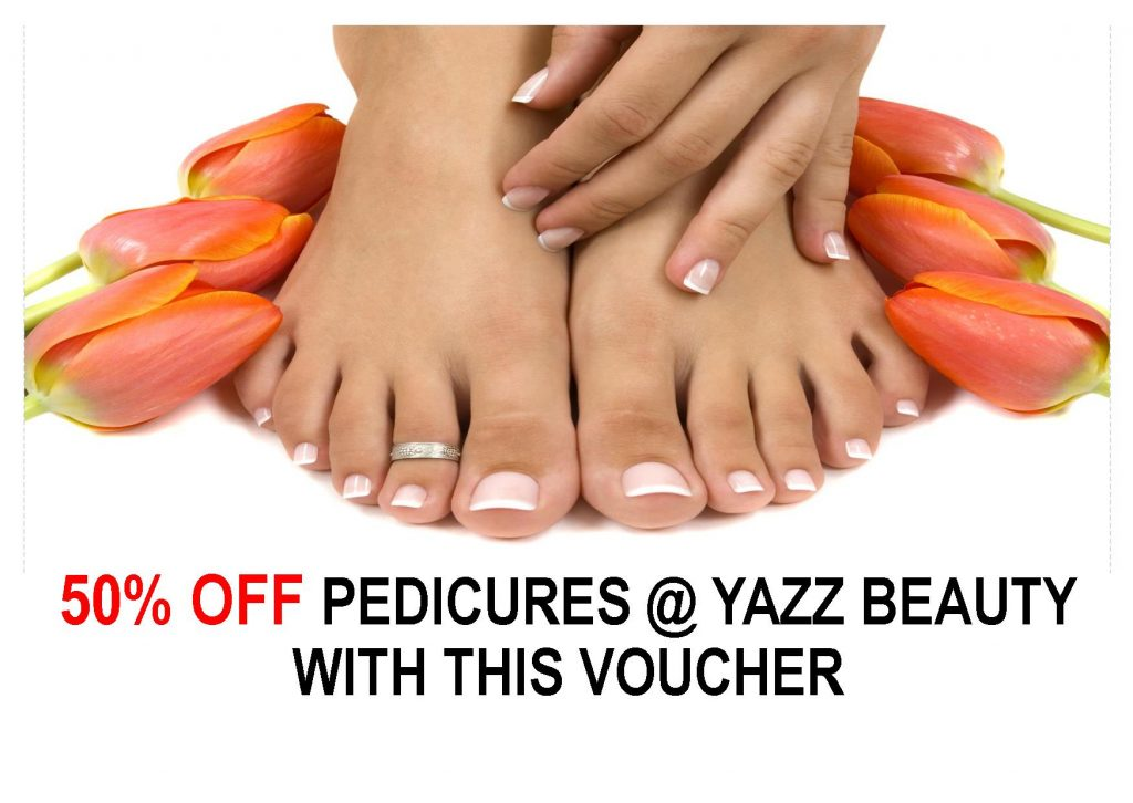 50% off discount voucher for Yazz Beauty Pedicures at Rawdon, North Leeds, West Yorkshire