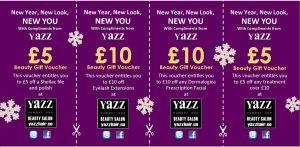 Yazz Beauty Leeds 2016 Christmat discount vouchers