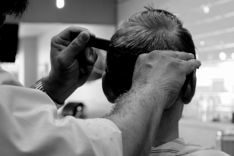 Mens barber haircut