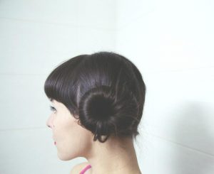 Side Bun Hair Up Idea from Yazz Leeds