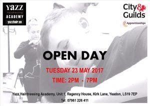 Yazz Hairdressing Academy Yeadon, Leeds, Open Day 23 May 2017