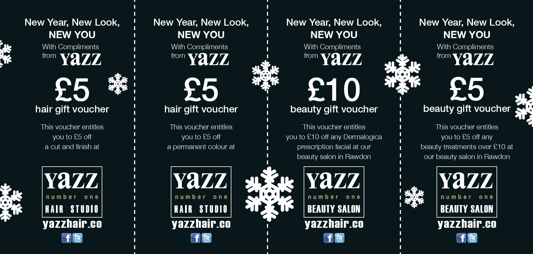 Christmas Vouchers Are Back At Yazz! Money Off Cuts