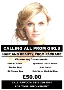 Hair and Beauty Prom package from Yazz Hair and Beauty, Rawdon, Leeds, West Yorkshire!